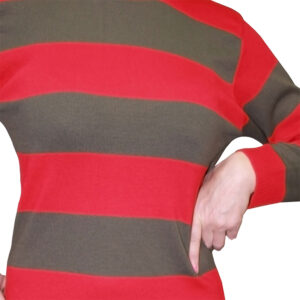 Red And Green Stripe Knitted Jumper