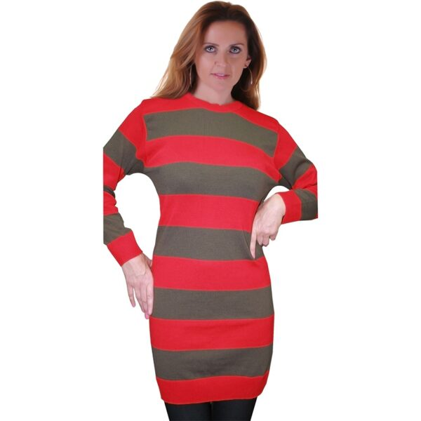 Red and Green Knitted Jumper