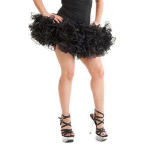 Womens 2 Layer Short Ruffle Tutu Skirt