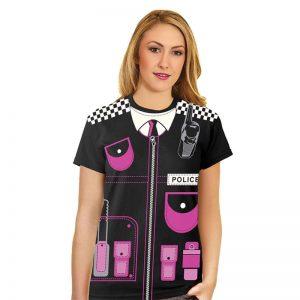 Women Police Print T-Shirt