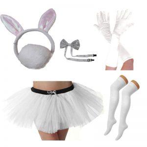 White Bunny Costume Set