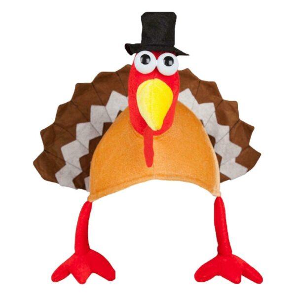 adult hat with turkey 28x45cm