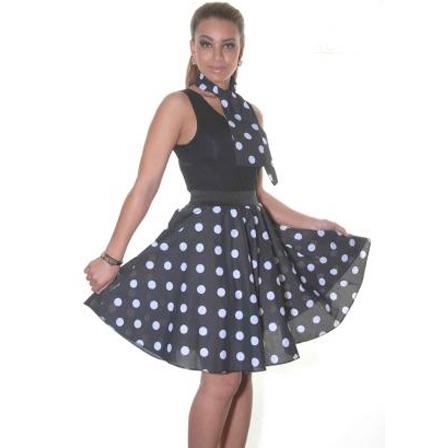 black white skirt 22in