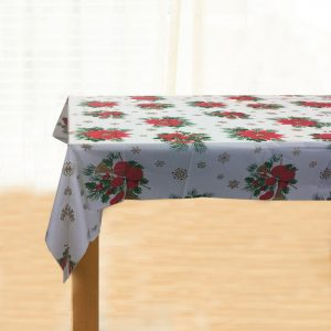 Christmas Flowers Table Cover