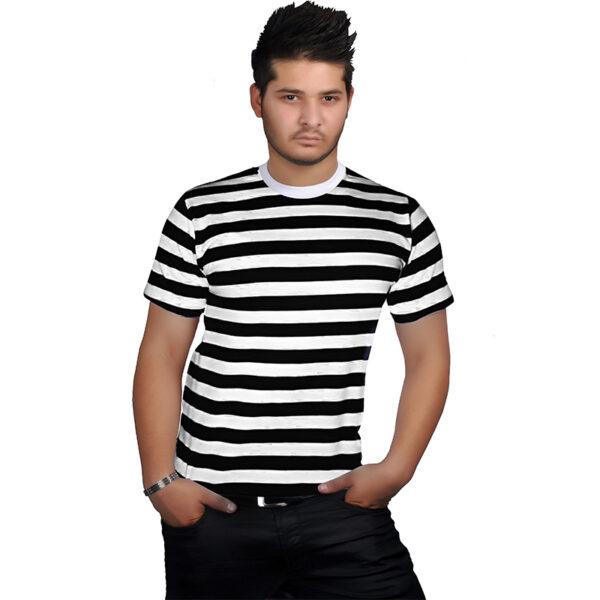 men stripes shirt black