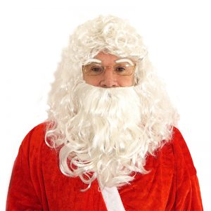 Santa Wig With Beard and Eyebrows