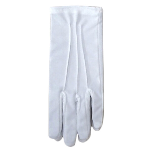 short gloves white