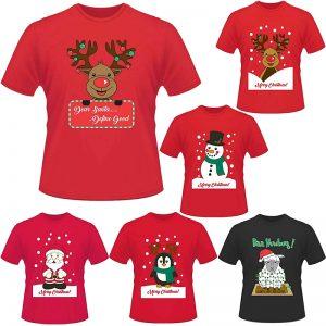 Unisex Christmas Printed T-Shirt