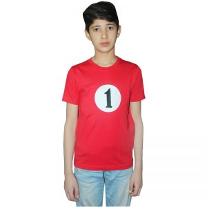 Childrens 1 And 2 Printed Red T-Shirt
