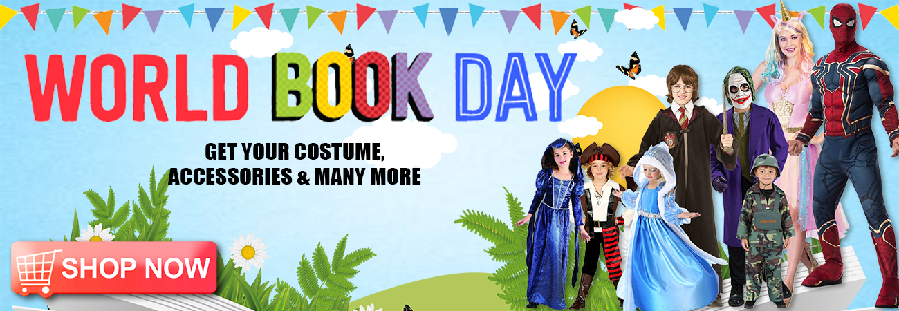World Book Day Costumes and Accessories for Men, Women and Children