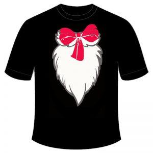 Adult Children Black Printed T-Shirt