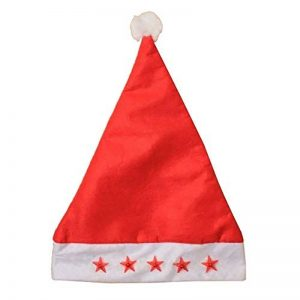 Christmas Flashing Red Stars Santa Hat