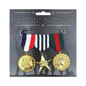 Military Hero Medals (3 Pcs)