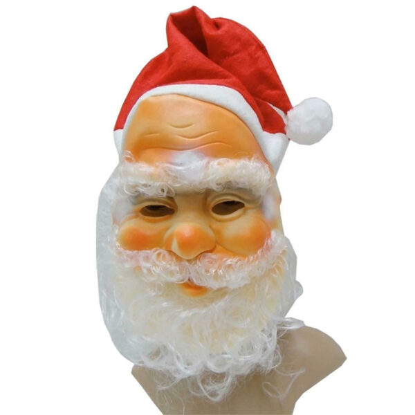 Santa Face Mask with Hat and Beard