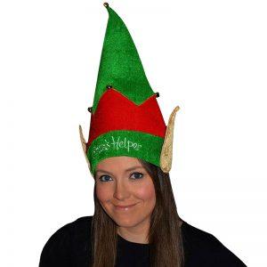 Xmas Santa Helper Velvet ELF Hat