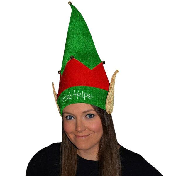 santa helper elf velvet hat 2