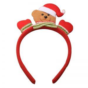 Christmas Teddy Bear Santa Aliceband