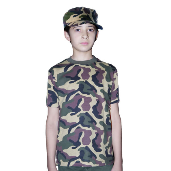 Child Army Camouflage T Shirt