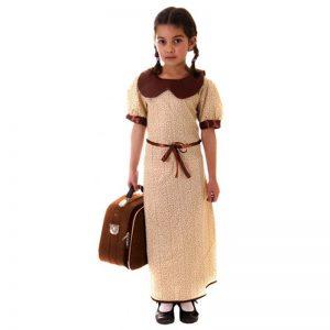 Children Evacuee Girl Costume