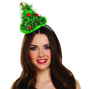 Xmas Headband Hat With Mini Christmas Tree