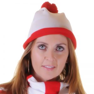 Christmas Knitted Red & White Hat