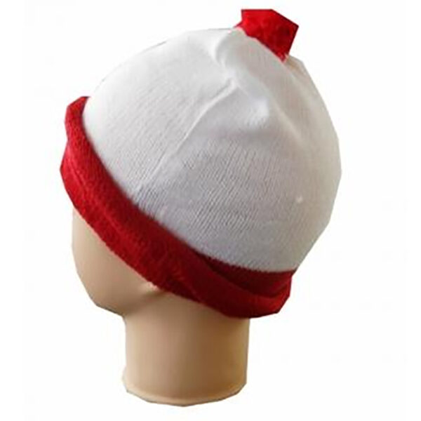 knitted red white hat 2