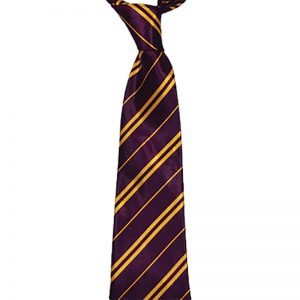 Maroon & Yellow Striped Neck Tie