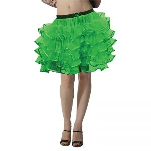 5 Layers Green TUTU Skirt With Ribbon