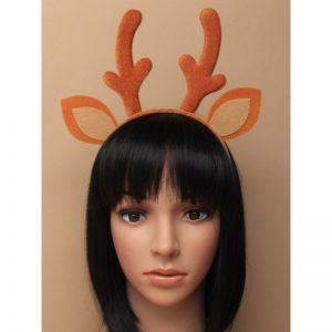 Brown Deer Antlers & Ears Aliceband