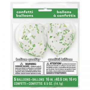 St. Patrick's Day Confetti Balloons