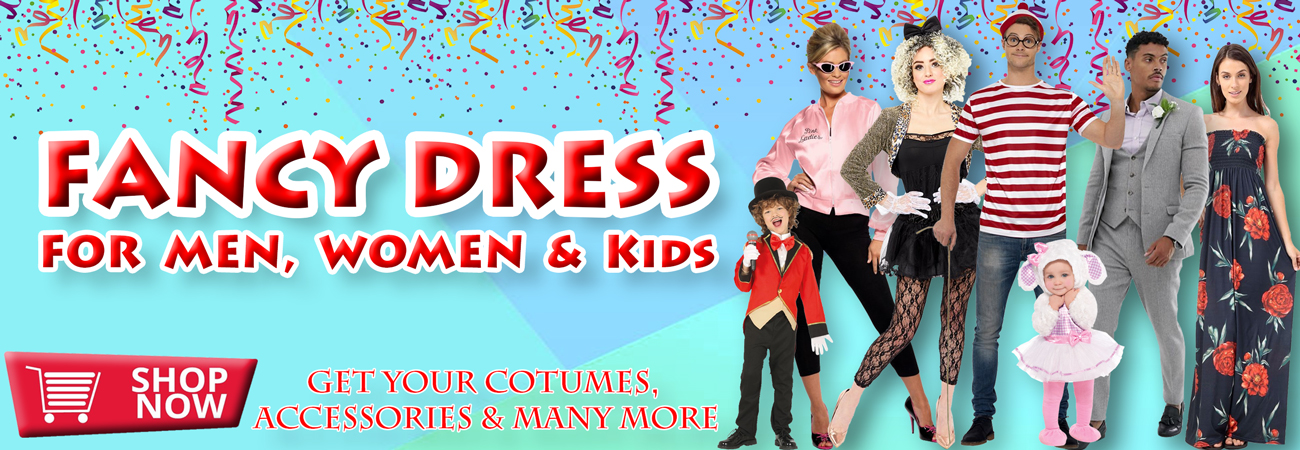 Fancy Dress Clothing, Accessories and Supplies for Men, Women & Children