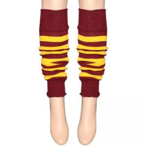 Maroon & Yellow Stripes Leg Warmer