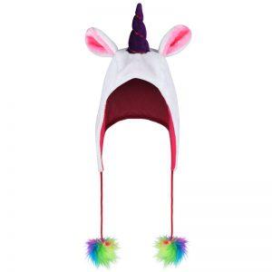 Unicorn Hat With Rainbow Pom Pom