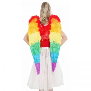 Multicolored Rainbow Foldable Angel Wings