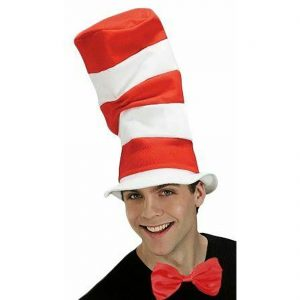 Adults Child Red And White Tall Hat