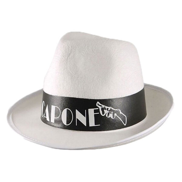 Al Capone White Gangster Hat