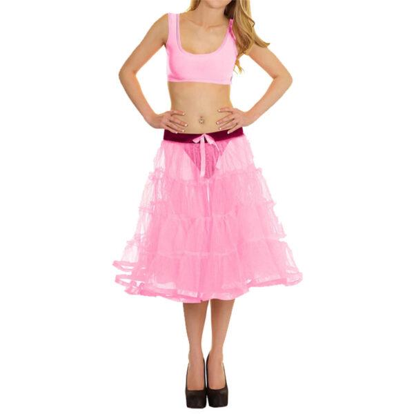 Baby Pink 4 Tier Skirt