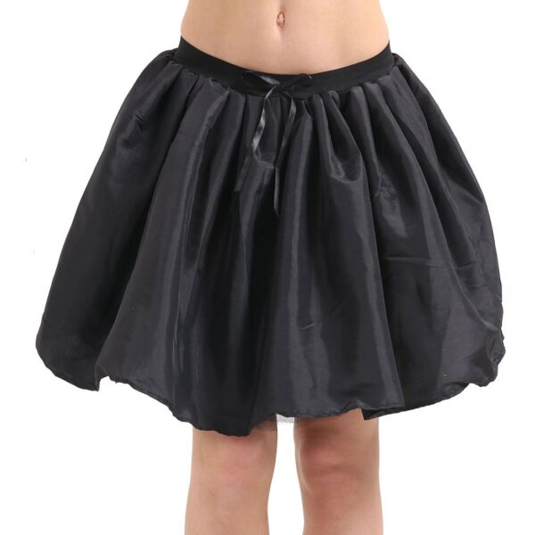 Black 3 Layer Satin Skirt