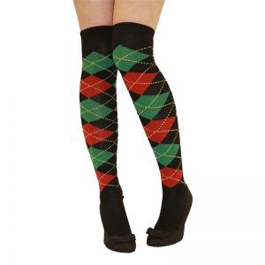 Over The Knee Argyle Socks