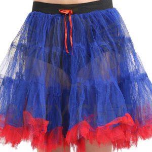 2 Layer Blue Red Ruffle Edged TUTU Skirt