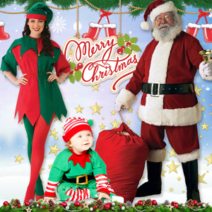 Merry XMAS, Christmas Party Supplies, Costumes, Toys & Accessory for Adults, Teens and Children