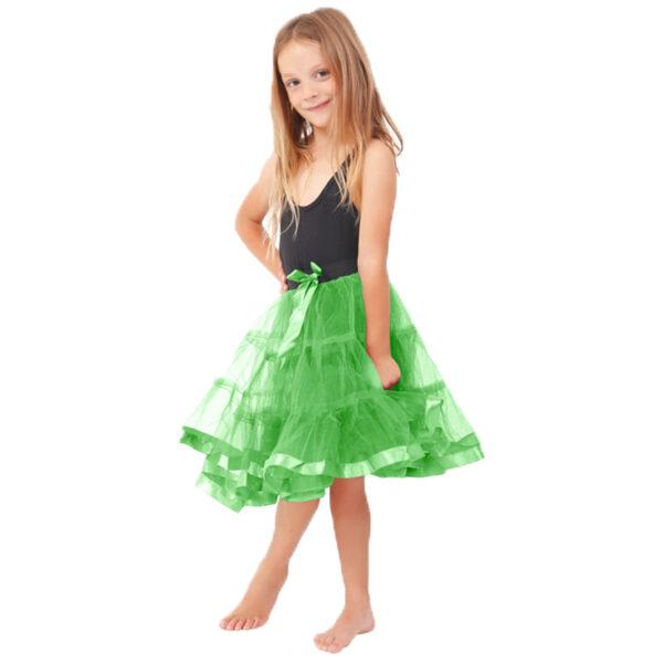 Green Petticoat Skirt