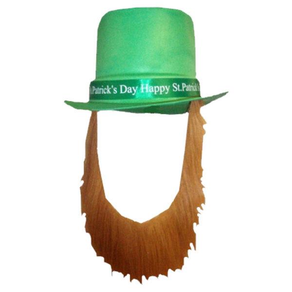Happy St Patricks Hat With Beard