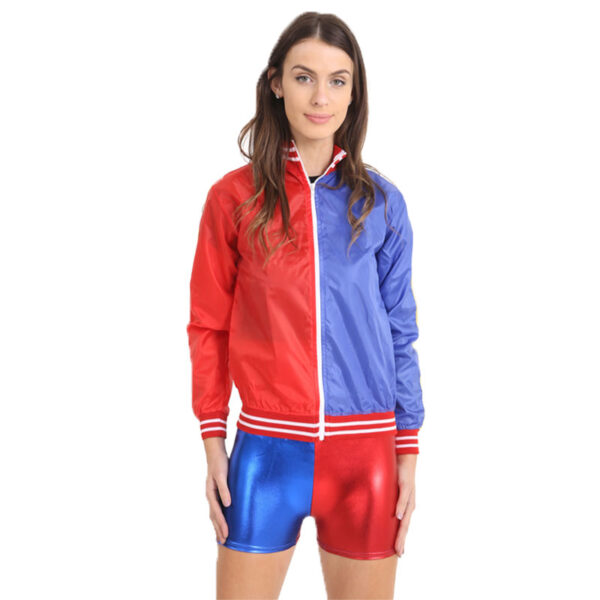 Ladies Red Blue Jacket Front