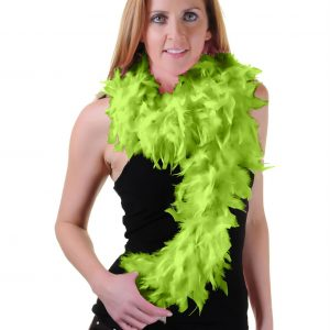 St Patricks Day Lime Green Feather Boa