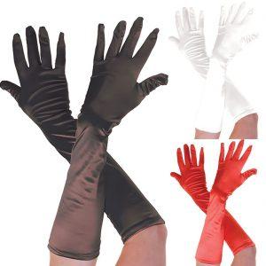 Plain Satin Long Gloves