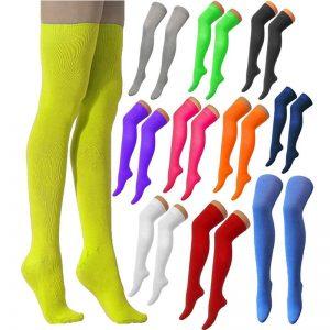 Adults Plain Over The Knee Socks