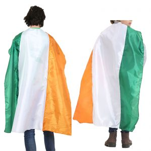Tricolor Irish Flag Satin Cape