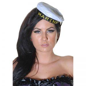 White Mini Marine Hat