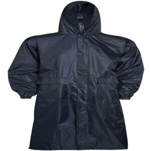 Mens Rain wear Hooded Long Coat